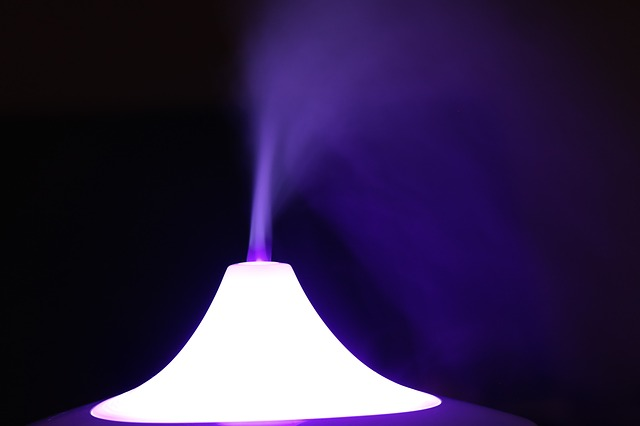 steam coming out of a humidifier